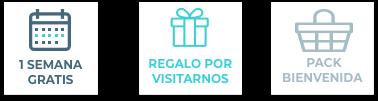 1 Semana gratis - Regalo por Visitarnos - Pack Bienvenida