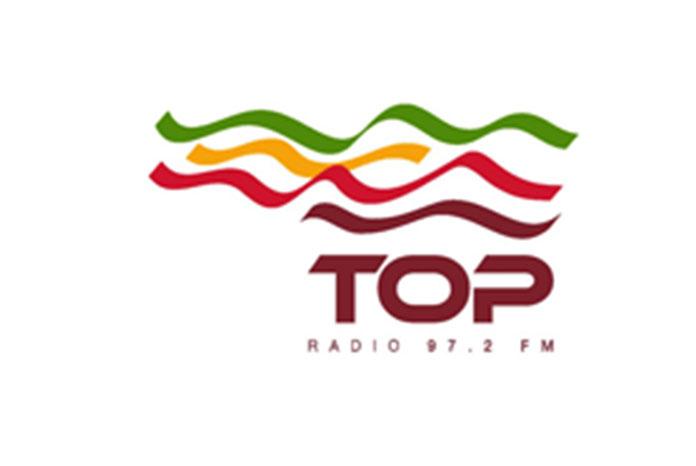 Top Radio logotipo cuña